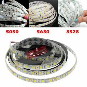 5M-SMD-300-600-LED-3528-3014-5050-5630-Waterproof-Flexible-White-Strip-Light-12V