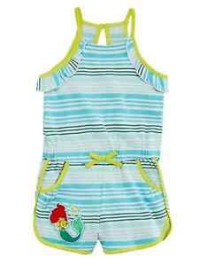 7f4557e741762 Image is loading Disney-Little-Mermaid-Girls-Blue-Striped-Terry-Swim-