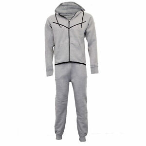 mens tracksuit sweatshirt hooded top fleece bottom HLY college lined winter