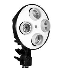 Photo Video studio 4 x E27 CFL Bulb Light Socket Umbrella holder Bracket softbox