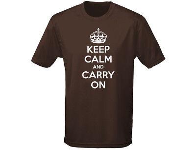 Keep Calm And Carry On Funny Mens T-shirt (12 Colours) BerüHmt FüR Hochwertige Rohstoffe, Umfassende Spezifikationen Und GrößEn Sowie GroßE Auswahl An Designs Und Farben