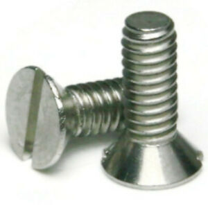 """1//4/""""-28 x 1//2/""""18-8 Stainless Steel Slotted Pan Head Machine Screws-Select Qty"""