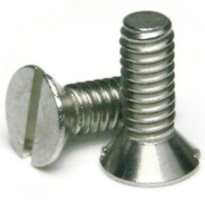 "8-32 x 3//4/"" Flat Head Machine Screws Stainless Steel 18-8 Qty 500"