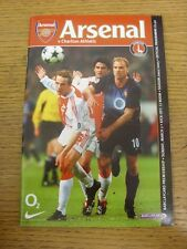 02/03/2003 Arsenal v Charlton Athletic  . Item appears to be in good condition u