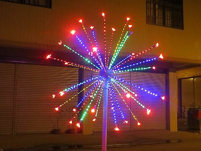 Indoor Christmas Lights.2m 6 6ft Led Fireworks Light Wedding Garden Party Christmas Light 4 Clours New Ebay
