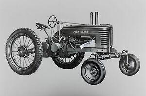 John-Deere-1939-Model-B-wide-front-wheels-12-X-18-034-Black-amp-White-Picture