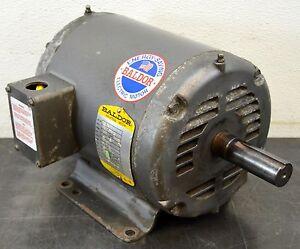 Baldor m1021t 1 1 2 hp 1725 rpm electric motor 3ph 208 230 for Mcd motors mobile al