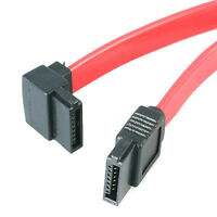 24 Inch Serial Ata Sata Ii 3.0gbps Straight To 90 Degree Left-angled Data Cable