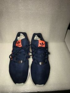 finest selection 552a2 e3203 Details about adidas Originals Zx Flux (Dark Blue/Solar Red)