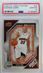 2009-09-10-Upper-Deck-Draft-Edition-STEPHEN-CURRY-Rookie-RC-34-Graded-PSA-10