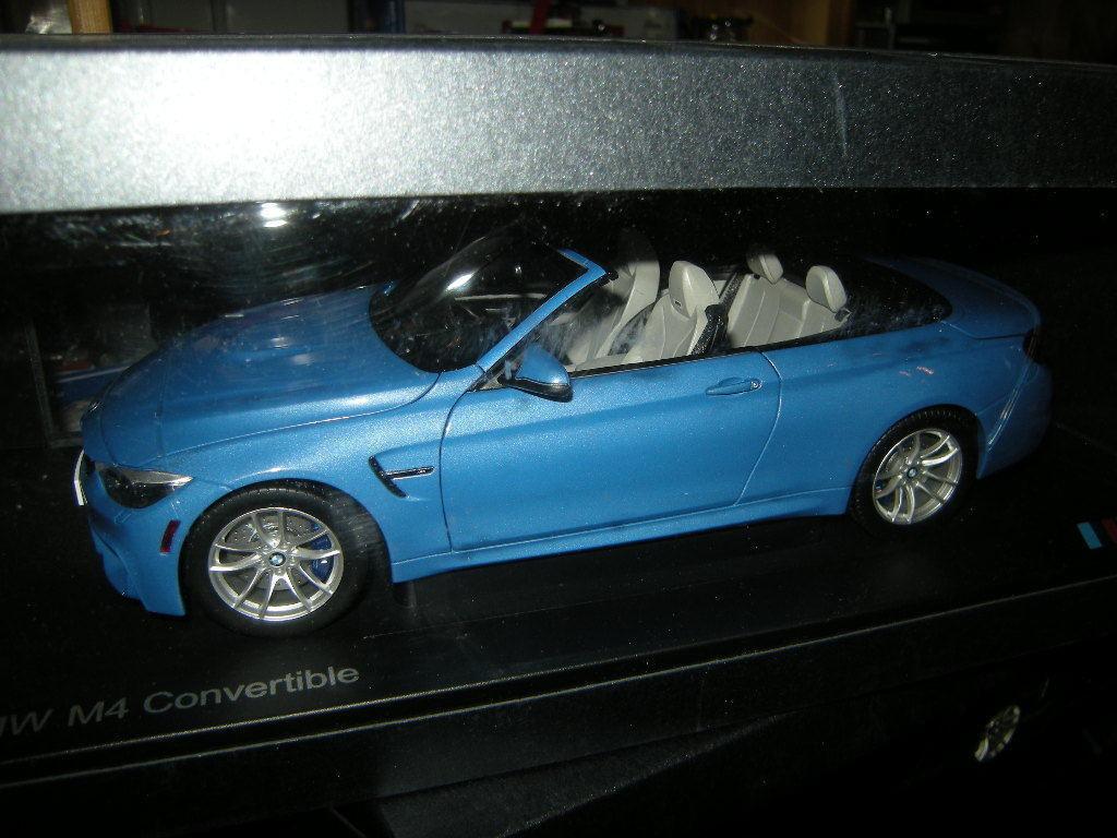 1 18 Paragon BMW BMW BMW M4 Cabrio Yas Marina Blau Blau Nr. 80432339612 in OVP e3457d