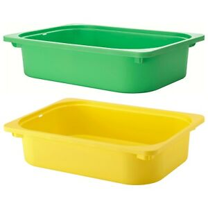 Details About Trofast Kids Storage Box 42x30x10 Cm Plastic Drawer Childrens Organiser Ikea