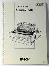 Epson lq-570, lq-1070 printers service manual service manuals.