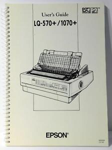 Epson lq-570 + printer service manual service manuals download.
