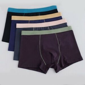 Männer Boxer Herren Slips Plusgröße Boxer Atmungsaktiv Unterhose Slips