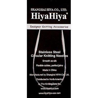 Hiya-Hiya 12 Inch 30 cm Circular Stainless Steel Knitting Needles