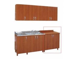 Dettagli su Base 2 ante cm 80 ciliegio ciliegio/panna bianco mobili cucina