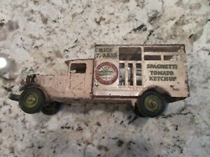 Metalcraft-Pressed-Steel-Delivery-Truck-Heinz-57-Original-1930s
