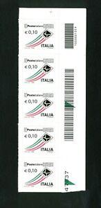ITALIA-Repubblica-Serie-Ordinaria-adesivi-Francobolli-MNH-CODICI-A-BARRE