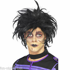 Men's Psycho Wig Edward Scissor Hands Black The Cure Fancy Dress Halloween