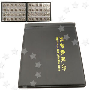 240-Coin-Collection-Holders-Storage-Money-Penny-Pockets-Album-Book-Collecting-BL