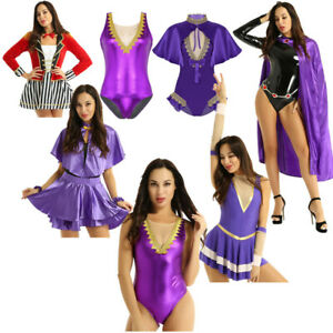 Adult-Women-Cape-Leotard-Fancy-Outfits-Set-Halloween-Theme-Party-Cosplay-Costume