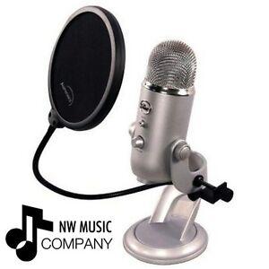 Blue Microphones Yeti Microphone Pop Filter by Auphonix (Desktop, USB) BRAND NEW 690002843288