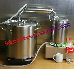 alambic 35 litres thermom tre distillateur d 39 eau alcool vin alambique pompe ebay. Black Bedroom Furniture Sets. Home Design Ideas