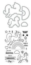 "Hero Arts Stamp & Cuts ""UNICORN"" Clear Stamps With Matching Dies Bundle"