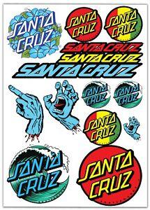 Set-14-PVC-Vinyle-Autocollants-Santa-Cruz-Skateboard-Stickers-Voiture-Moto-Auto