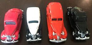 ERTL Dick Tracy AUTO LOTTO DI 4 DISNEY 1/64 VINTAGE Diecast rosso nero da collezione
