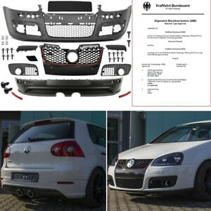 vw golf 5 v sto stange komplett heck diffusor r32 gti. Black Bedroom Furniture Sets. Home Design Ideas