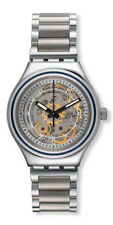 Swatch Mens Skeleton Dial Stainless Steel Bracelet Automatic Watch YAS112G