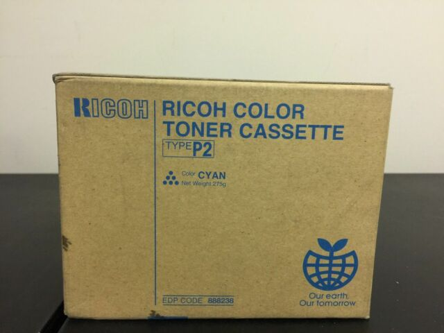 Genuine OEM Ricoh Trype P2 888238 Cyan Toner Cartridge Aficio 2228C 2232C NEW