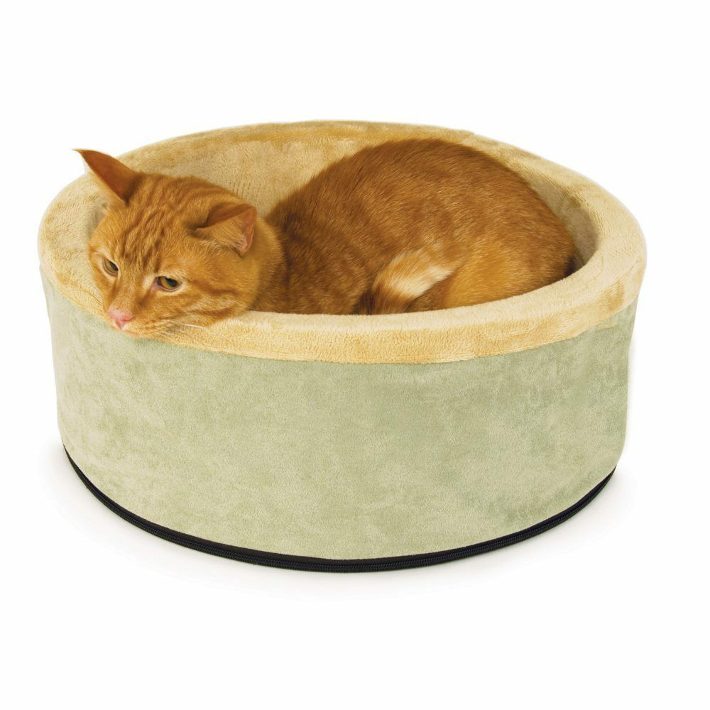 K&H Pet Products ThermoKitty Bed Small Sage 16 x 16 x 6