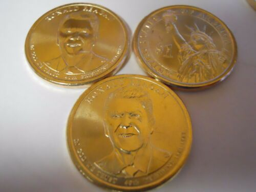 2 Coins UNC! Both 2016 P Ronald Reagan Presidential Dollars From US Mint Roll