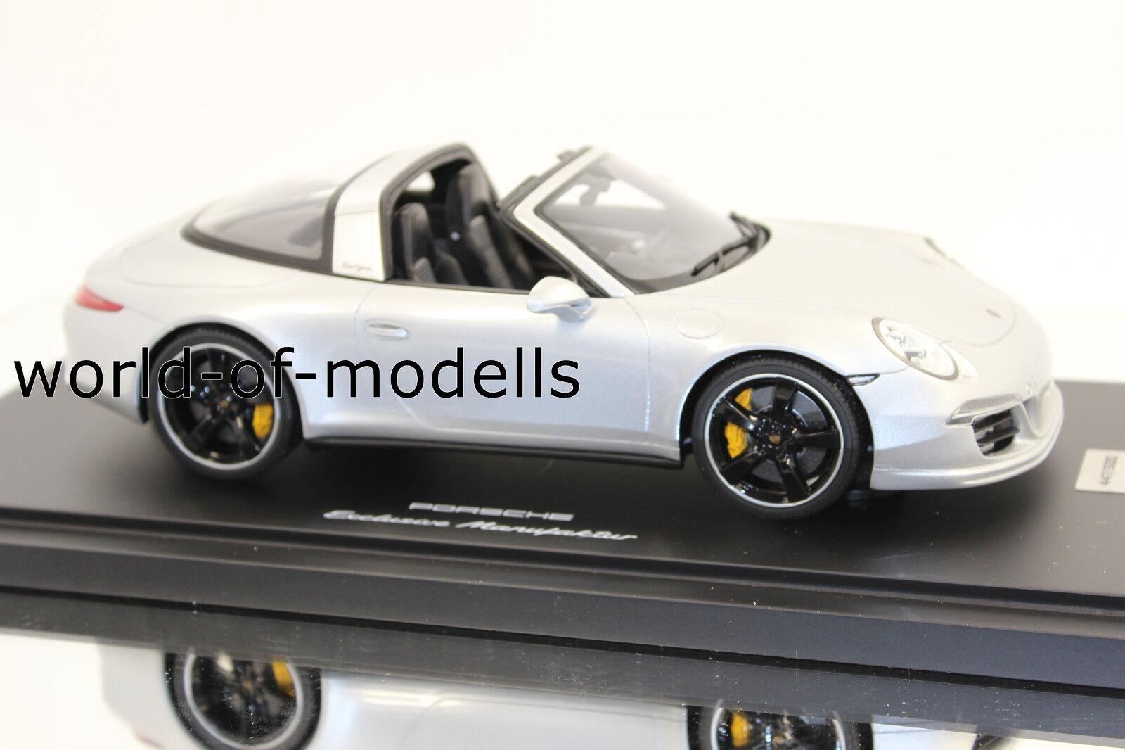 GT Spirit wax02100011 PORSCHE 911 991 TARGA 4s silver metalizado 1 18 Exclusivo