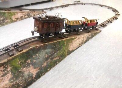 Märklin Traccia 0 Ingranaggio Ferroviario Completo Di Impianto Di Binario E Ponte-mostra Il Titolo Originale Valore Eccezionale