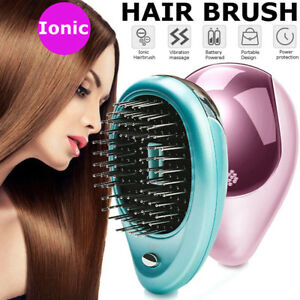 Details about Portable Electric Ionic Hairbrush Styling Vibration Hair  Brush Comb Massager