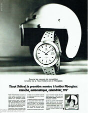 PUBLICITE ADVERTISING 016  1971  TISSOT  montre Fiberglass Sidéral