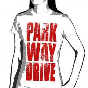 OFFICIAL Parkway Drive Block Logo White T-shirt WOMENS NEW LICENSED Band Merch