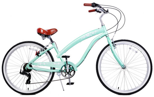 "Women/'s 26/"" Beach Cruiser Bike Mint green Fito Modena II Alloy 7-speed"