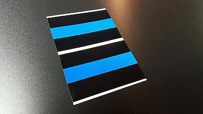 "2/""x3/"" THIN BLUE LINE Decals Stickers FOP Police PBA Trooper"