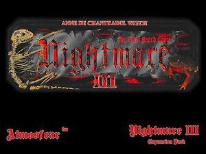Nightmare-3-III-Video-Board-Game-Video-Tape-VCR-VHS-DVD-Anne-de-Chantraine