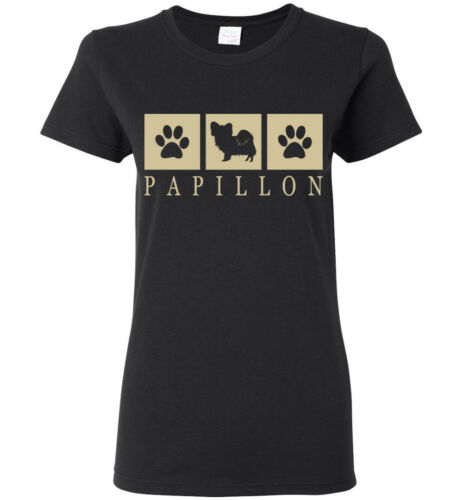 Womens Tank Short Papillon Silhouette T-Shirt Tee Mens Long Sleeve Youth
