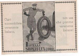 Pubblicita-epoca-1927-PIRELLI-PNEUMATICI-AUTO-advert-werbung-publicite-reklame