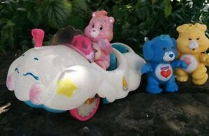 Vintage-1983-Care-Bear-CLOUDMOBILE-Custom-Sparkle-Glitter-amp-LED-Light-Pimp-Ride