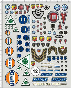 Self Adhesive Sticker decal car logos for different scales ...