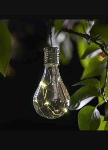 3 X Chiara Lampadina ad Energia Solare da Appendere Albero//RECINZIONE LAMPADINE LUCI DA GIARDINO//RECINZIONE