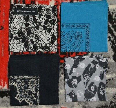 3 X Bandana / Kopftuch / Halstuch 1 X Loop Schal Skull / Totenkopf Neuwertig SorgfäLtig AusgewäHlte Materialien